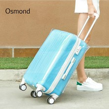 Osmond Waterproof Transparent PVC Luggage Protective Cover for 20-28 inch Luggage Protector Cover Travel Suitcase Dust Cover(China)