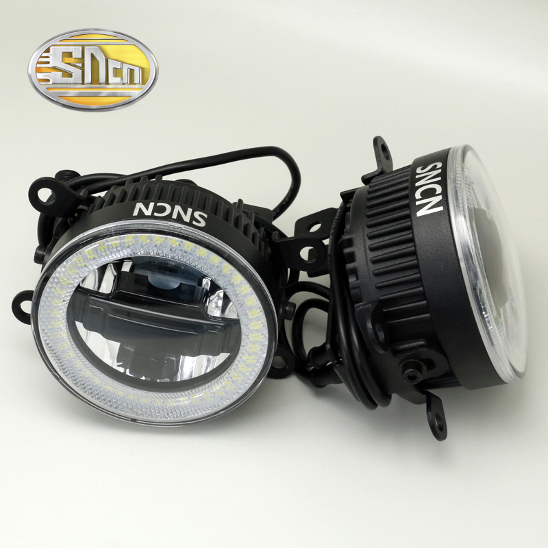 SNCN Safety Driving LED Angel Eyes Daytime Running Light Auto Bulb Fog lamp For Peugeot 207 2009 - 2012 2013,3-IN-1 Functions<br>
