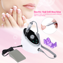 Anself Electric Nail Glazing Machine LED Display Nail Drill Machine Pen Nail Polisher Grind Sanding Bands Pedicure Manicure Tool(China)