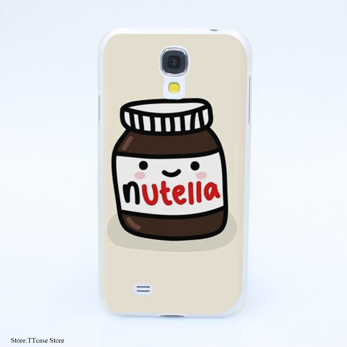 2544CA Nutella design Hard Transparent cheap font b Case b font Cover for Galaxy S2 S3