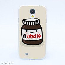 2544CA Nutella design Hard Transparent cheap Case Cover for Galaxy S2 S3 S4 S5 & Mini S6 S7 & edge Plus