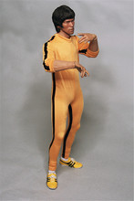 Mnotht Toy Custom Bruce Lee 1/6 Game of Death Jump Suit Nunchaku for Hot Toys Enterbay Body l30(China)