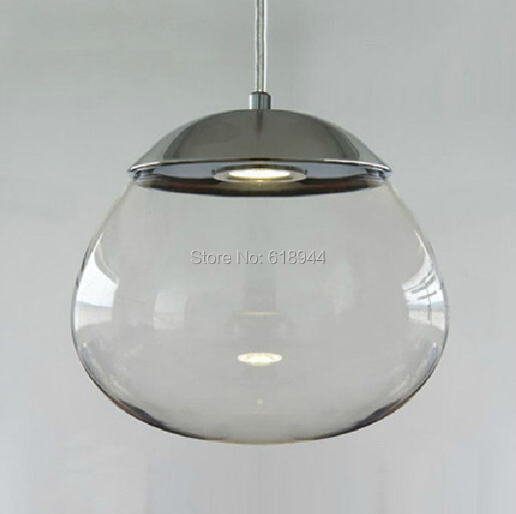 Modern Brief Dining Room Nordic American Country LED spotlight Clear Glass Pendant Lights, Round Living Room Hanging Lamp<br>