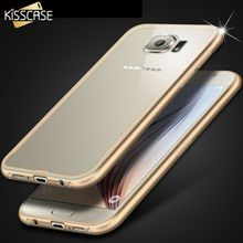 KISSCASE Metal Aluminum Acrylic Frame Cases For Galaxy S6 G920 Clear Transparent Plastic Back Cover Accessories for Samsung S6