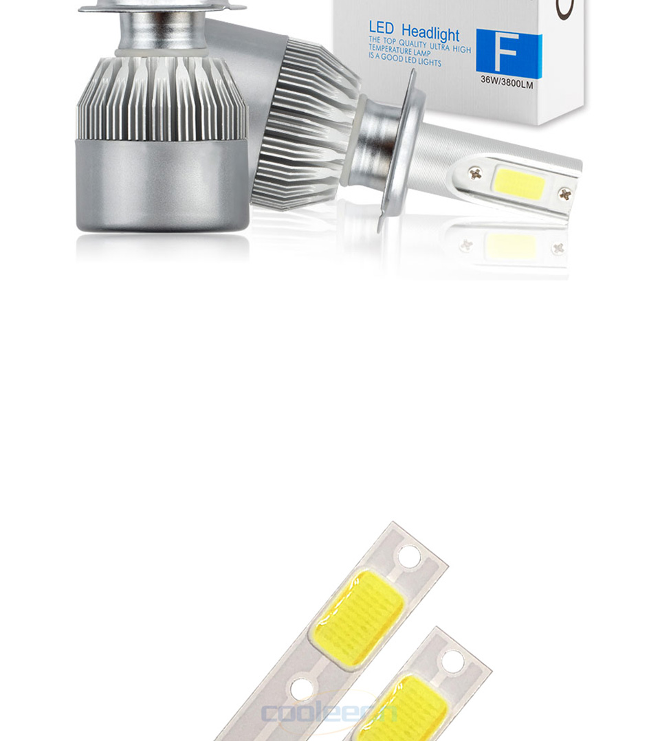 c6 car headlight cob chip light source H1 H3 H4 H7 cob lamp (7)