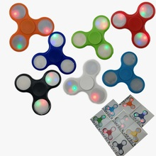 LED Light Hand Finger Spinner Fidget Flash Light EDC Hand Spinner Autism ADHD Relief Focus Anxiety Stress Kids Toys