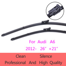 "High-Quality Windshield Wiper Blades for Audi A6  2012-present 26""+21"" Car Accessories Soft Rubber Wiper Blades"