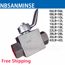 Hydraulic Ball Valve Stainless Steel 06/08/10/12/15/18/22/28/35/42 SR KHB - SR Type Normal Temperature Anticorrosion Sanmin