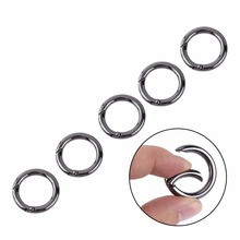 5Pcs/Lot  Zinc Alloy Circle Round Carabiner Keychain Spring Ring Carabiner Clips Snap Hook Keyring Buckle Outdoor Tool
