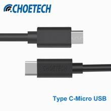 Original CHOETECH 1m USB Type-C to Micro USB Cable with Data Syncing & Charging Function for Cell Phones and Tablets