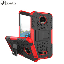 AKABEILA Military Armor Kickstand Phone Case Cover For Motorola Moto Z Force Verizon Vector maxx Case 2 in 1 Hybrid Cove(China)