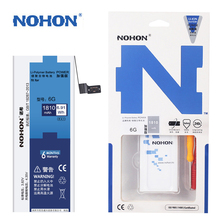 100% NOHON Original Battery For iPhone 6 6G iPhone6 1810mAh High Quality Mobile Phone Batterie Free Tools In Stock Tracking Code(China)