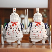 2017 Fat soldiers Figurines Bookend Office Study Souvenir Modern simplicity home living room bookcase decoration sculpture 2PCS
