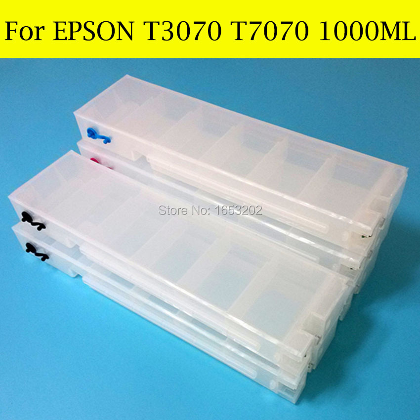 5 Color 1000ML Empty Wide Format Ink Cartridge For Epson Surecolor T3070 T5070 T7070 Printer With Auto Reset Chips<br><br>Aliexpress