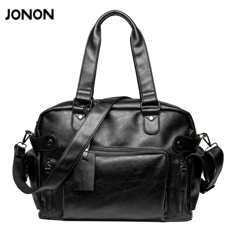 New Fashion Multifunction Mens PU leather Travel Bags Brand Waterproof Vintage men messenger bags high quality shoulder bags<br>