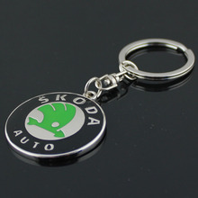 3D Silver Metal Keychain Car Logo For SKODA Key Ring Chain Chaveiro Llavero Keyholder Car Styling Fashion Accessories