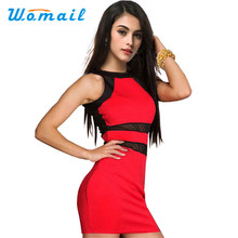 Womail Newly Design Womens Fashion Evening Sexy Party Mini Dress Club Party Dress Drop Shipping Womail