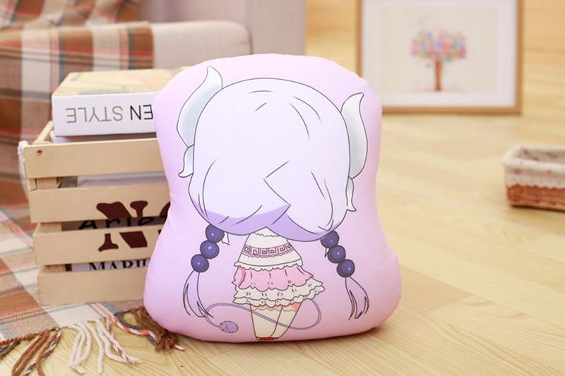 Miss Kobayashi's Dragon Maid Cosplay Kanna Kamui Plush Doll Toy Pillow Soft Cute Dragon Stuffed Cushion Gift Two-side 32x30cm (4)