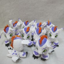 "Free Shipping Cute 4"" Anime Cartoon Digimon Adventure Gomamon 12cm Soft Stuffed Toy Kids Plush Animal Doll Gift Dolls Gift"