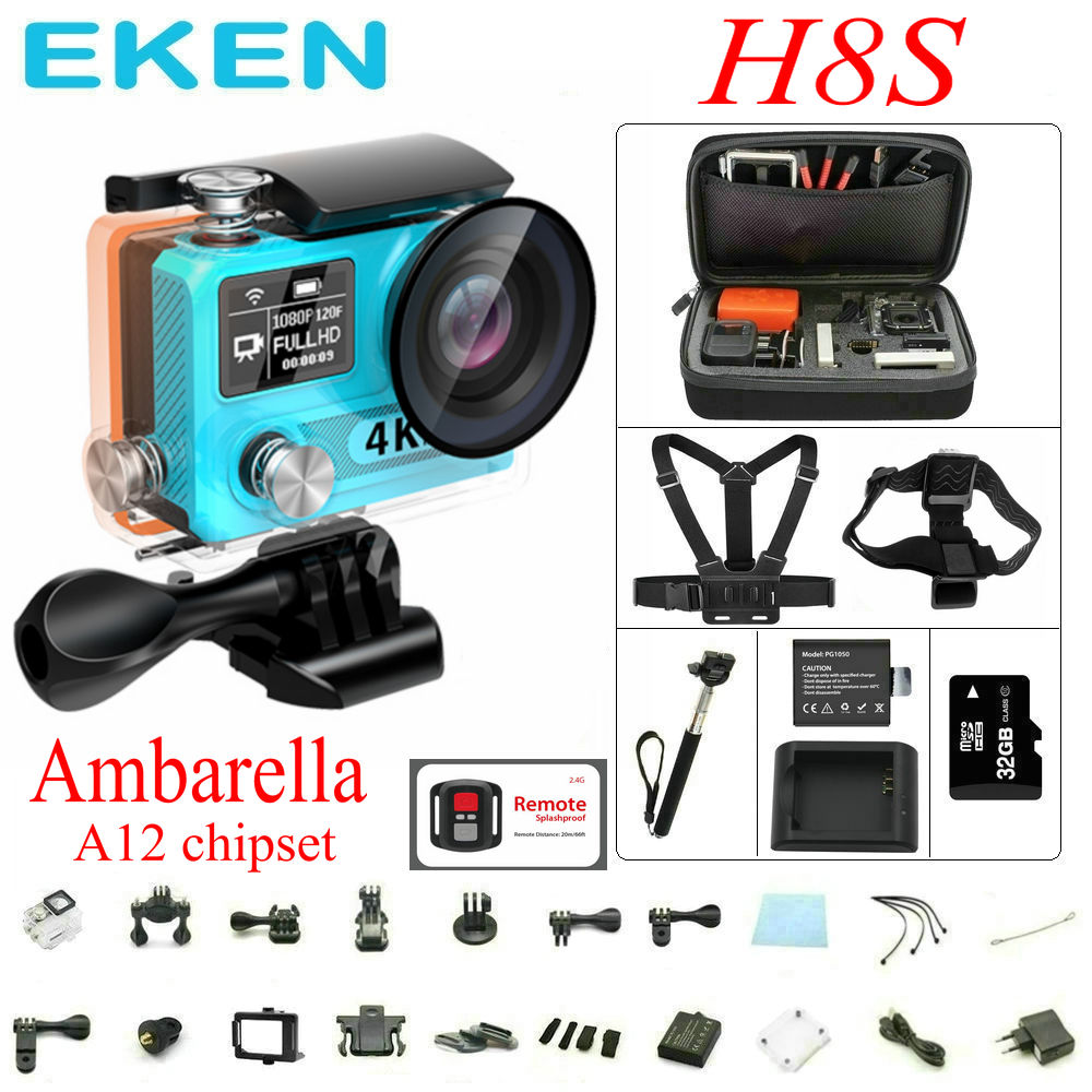 Origianl EKEN H8S Action Camera WiFi Real 4K 30FPS...