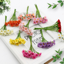 10 pcs Daisy Silk Cheap Artificial Flower Bouquet For home Wedding Scrapbooking Gift box Decoration DIY Wreath Craft Fake Flower(China)