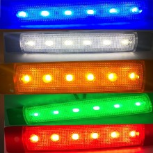 8x 12v  6 LED Side Marker Indicators Lights Lamp For Car Truck Trailer Lorry Amber Red Blue White Green Clearence Bus