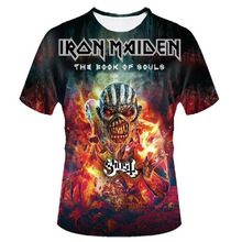 iron maiden NEW 2017 fashion 3d t-shirt men camiseta punk rock heavy metal tshirt music brand Tees Homme Funny skull t shirt