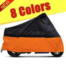 L/XL/XXL/XXXL Waterproof Outdoor Indoor Motorcycle Cruisers Street Sport Bikes Cover UV Protective Motorbike Rain Dust 8 Colours(China)