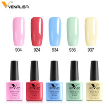 Fast dry foot color Manicure Venalisa Cosmetic gel polish shiny glitter pearl color soak off led long lasting nail uv gel polish(China)