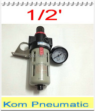 "1/2"" bsp BFR-4000 Source Treatment Unit Pneumatic Air Filter Regulator With Pressure Gauge + Cover BFR4000"