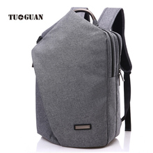 TUGUAN New Design Brand Backpack 15.6 inch Laptop Bag Men Business Back Pack Casual Canvas Unique Backpacks For Male/Female