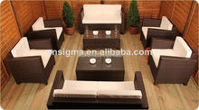 Modern style outdoor patio furniture poly rattan balcony sofa set(China)