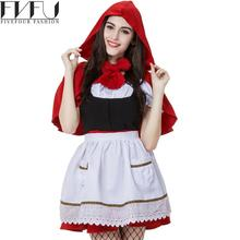 2017 Fashion Halloween Cosplay Costumes Women Little Red Riding Hood Parenting Anime Cosplay Halloween Costumes Plus Size(China)