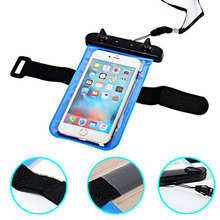 Waterproof Pouch For Huawei Ascend Y635 Water Proof Diving Bag Outdoor Phone Case Underwater Phone Bag For Y635 with Neck Strap(China)
