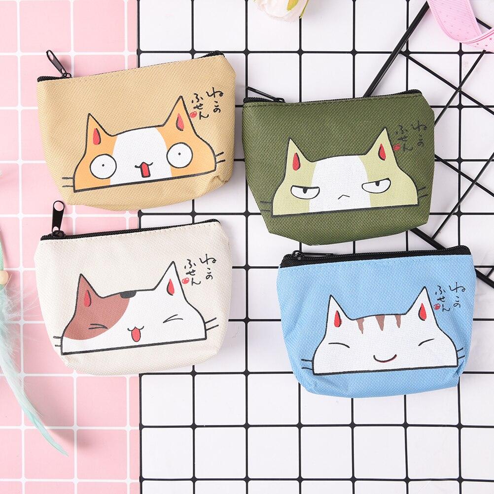 Cat Coin Purses Women Wallets Small Mini Cute Cartoon Animal Card Holder Key Bag Money Bags for Girls Ladies Purse Kids Children