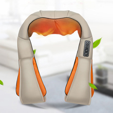 TOP Quality Neck knocks Massage Shawl Cervical Spine Massager Home, Car , Office Use Four Large Massage Heads Wholesale Price(China)