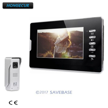HOMSECUR 7inch Video Security Door Phone with Intra-monitor Audio Intercom for Apartment