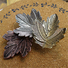 SHUANGR 3 pcs AllOy Maple Leaf Brooch Pin For Women Men Plant Costume Jewelry Wholesale
