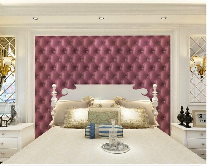 High Quality Vintage simple gride pupple sofa and Eco-friend wallpapers decorative papel de parede pure paper roll 53x1000cm<br>