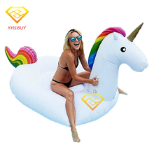 2.7*1.4*1.2M Giant Inflatable Unicorn Pegasus Water Float Pool Toy Raft Air Mattress Swim Board Colchonetas Inflables Piscina