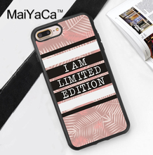 BLACK PINK  I Am Limited Edition Quote Phone Case For iPhone 6 6S Plus 7 7 Plus 5 5S 5C SE 4 4S Rubber Soft Cell Housing Cover