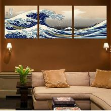 Fashion Seascape Landscape Canvas Painting Traditional Art Scenery Modular Pictures Great Wave off Kanagawa Katsushika Hokusai