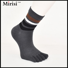 Excellent  factory outlet casual combed cotton all-match deodorant five toe socks