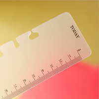 A5A6 6 Holes Spiral Planner Accessory Ruler Office School Stationery Drawing Supplies Binder Notebook Inner Frosted Rulers