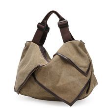 New Spring 2017 Female Canvas Bag Women fashion handbag shoulder bags crossbody tote bolsas(China)