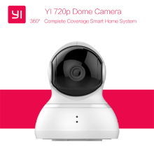 YI Dome Camera 720P Pan/Tilt/Zoom IP Security Surveillance System Night Vision International Version Xiaoyi Wireless Webcam