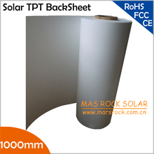50meter/Lot Wholesale Solar PV Back Sheet, 1000mm Width 0.3mm Thickness, Solar Panel Encapsulation Film, Solar TPT Back Sheet(China)