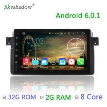 8 core 9 inch 2G RAM Android 6.0 Car DVD Player GPS map RDS Radio Tape For BMW 3 E46 320 325 M3 Rover 75 MG ZT 2004 WiFi  GPS BT