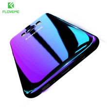 FLOVEME Blue Gradient Case For Samsung Galaxy S6 S7 S8 Plus Xiaomi mi5 Redmi 4 Pro For Huawei Mate 9 Cases Hard Back Cover Coque
