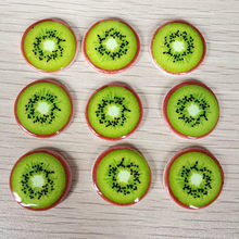 10pieces/lot diy 20mm round Christmas fruit pasting and clip-thin rhinestone resin crafts festival decorationsT82D(China)